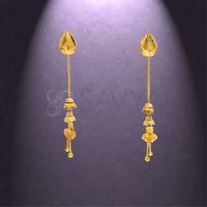 RFT01 Gold Rajkot Earring