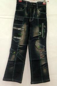 Boys Denim Cargo Pants