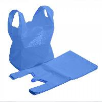 Blue Recycled Plastic Vest Carrier Bags
