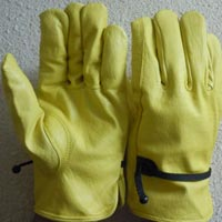 Buffalo Grain Leather Gloves