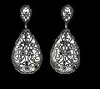 Black Diamond Lace Drop Earrings