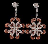 Diamond Snowflake Drop Earrings