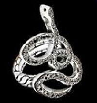 Snake Black Diamond Ring