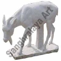 Marble Goat Statue