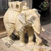 Sand Stone Elephant Statues