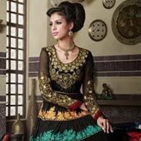 Black Colour Party Wear Long Anarkali Salwar Kameez