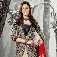 Blue Designer Knee Length Salwar Suit, Magenta Designer Knee Length Salwar Suit