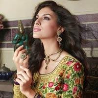 Dafodil Colour Ethnic Designer Party Wear Long Anarkali Salwar Kameez