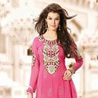 Fuchsia Designer Heavy Embroidered Salwar Kameez