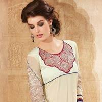 Off White Designer Heavy Embroidered Salwar Kameez