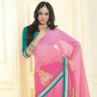 Stunning Look Wedding Designer Attractive Indian Embroidered Saree