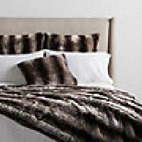 Faux Fur Chinchilla Bed Blanket