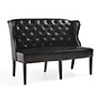 "Greyson 60"" Leather Tufted Bench"