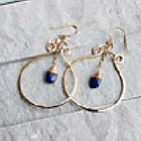Open Water Lapis Earrings