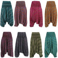 Cotton And Silk Casual Wear Trouser Gypsy Harem Pants