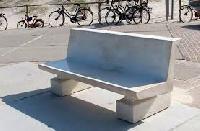 back rest concrete bench