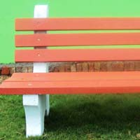 Concrete Bench With Back Rest