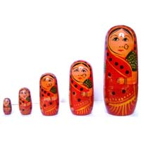 Wooden Painted Russian Dolls