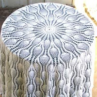 Crochet Lace Round Table Cloth