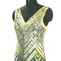 Silk Chiffon Designer Art Deco Dress