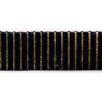 Velvet Cut Cut Stripe Ribbon