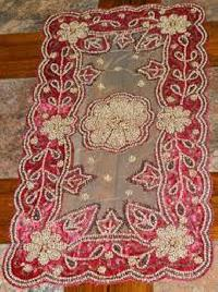 handmade beaded table runner