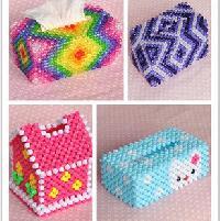 Handmade Beaded Tissue Box Cover
