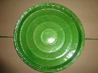 disposable green laminated paper plates