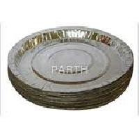 silver laminated disposable paper plates