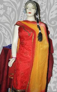 Chanderi Unstitched Suit