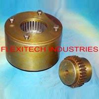 flexible brake drum geared coupling