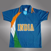 Indian Team Cricket Polyester T Shirt
