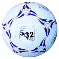 Soccer Ball Glossy Synthetic Rubber Size 5, 3 Ply