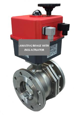 Electric Stainless Steel 2 Way Flanged PN16 Ball Valve