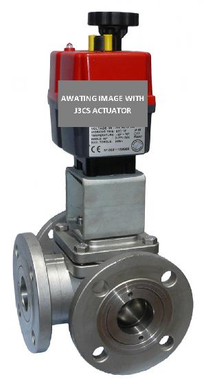 Electric Stainless Steel 3 Way Flanged PN16 Ball Valve