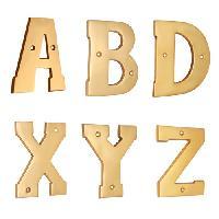Cabinet Pull Brass Alphabet
