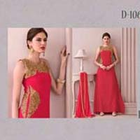Versidhhi-stylish Designer Georgette Semistitched Dress
