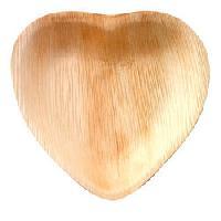 Palm Leaf Heart Shaped Plates