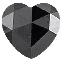 Heart Cut Black Diamond