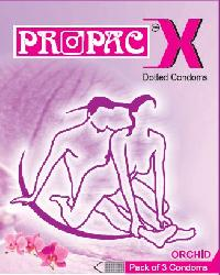 Propac Dotted Condom - Orchid Flavour