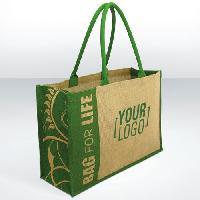 Jute Shopping Big Tote Bag