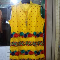 Georgette Yellow Kurta