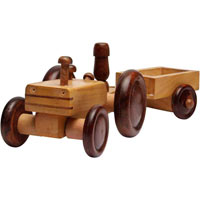 Wooden Tractor Trooly
