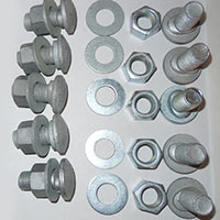 ROAD CRASH BARRIER, BUTTON HEAD BOLTS, NUTS, WASHERS