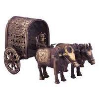Wood Carving Bullock Cart