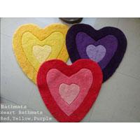 Yellow Heart Bath Mat