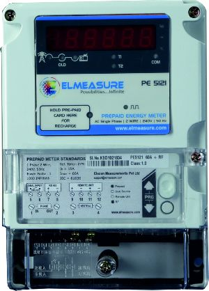 1 Phase Prepaid Energy Meter With Rf Whole Current Operated