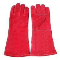 Coloured Leather Hand Gloves