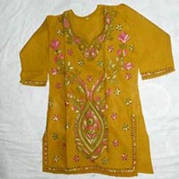 Cotton Kurtis With Applique Work