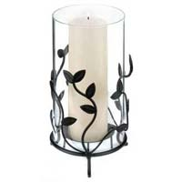 Glass Leaf Candle Holder